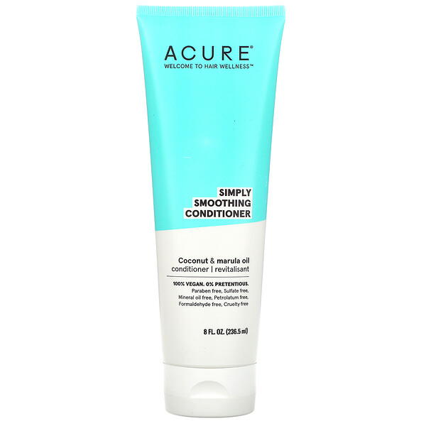 Acure, Simply Smoothing Conditioner, Coconut & Marula Oil,  8 fl oz (236.5 ml)