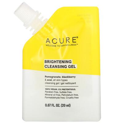Acure Brightening Cleansing Gel, 0.67 fl oz (20 ml)