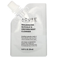 Acure, Resurfacing Glycolic & Unicorn Root Cleanser, 0.67 fl oz (20 ml)