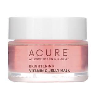 Acure, Brightening, Vitamin C Jelly Beauty Mask, 1 fl oz (30 ml)