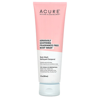 Acure Seriously Soothing Body Wash, Fragrance Free, 8 fl oz (236 ml)