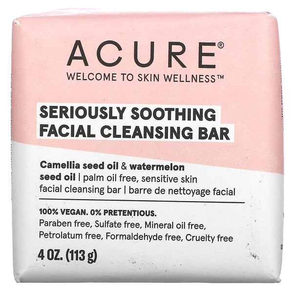 Seriously Soothing Facial Cleansing Bar, 4 oz (113 g)