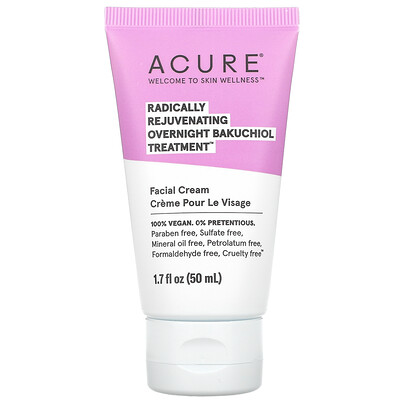 Acure Radically Rejuvenating Overnight Bakuchiol Treatment, 1.7 fl oz (50 ml)