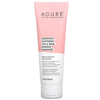 Acure, Seriously Soothing Jelly Milk Makeup Remover, 4 fl oz (118 ml)