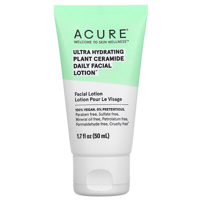Acure Ultra Hydrating Plant Ceramide Daily Facial Lotion, 1.7 fl oz (50 ml)