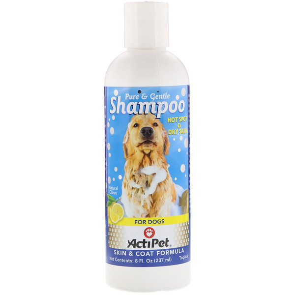 Actipet, Pure & Gentle Shampoo for Dogs, Natural Citrus, 8 fl oz (237 ml) (Discontinued Item)