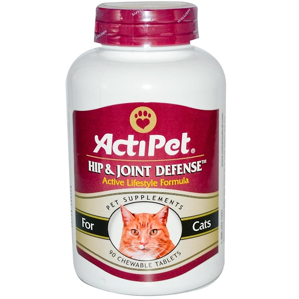 Actipet, Hip & Joint Defense, For Cats, Natural Beef & Tuna Flavor, 90 Chewable Tablets  (Discontinued Item)