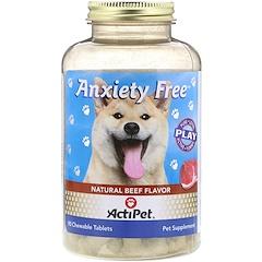 Actipet, Sin ansiedad, sabor natural a res, 90 comprimidos masticables
