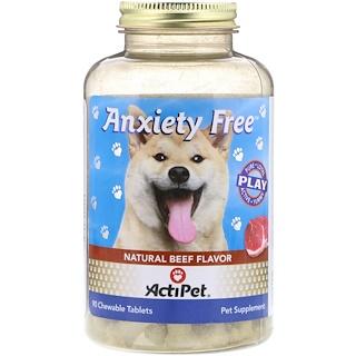 Actipet, Anxiety Free، بنكهة اللحم البقري الطبيعي، 90 قرص قابل للمضغ