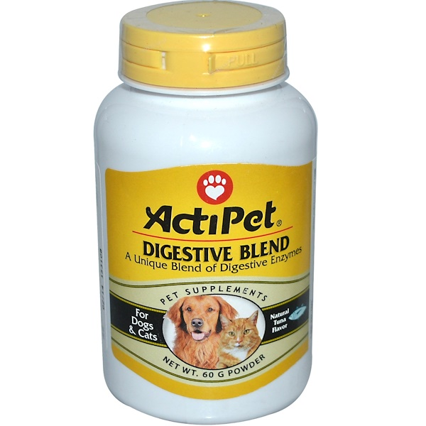 Actipet, Digestive Blend, For Dogs & Cats, Natural Tuna Flavor, 60 g Powder (Discontinued Item)
