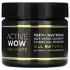 Active Wow, 24Kホワイト、オールナチュラル ティースホワイトニング チャコールパウダー、活性ココナッツ、20g