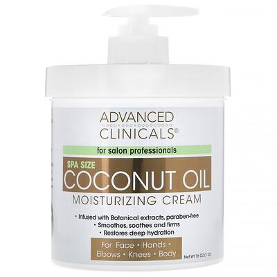 Advanced Clinicals Увлажняющий крем с кокосовым маслом, 16 унций (454 г)