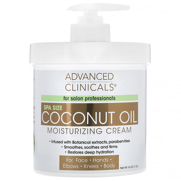 Coconut Oil Moisturizing Cream, 16 oz (454 g)