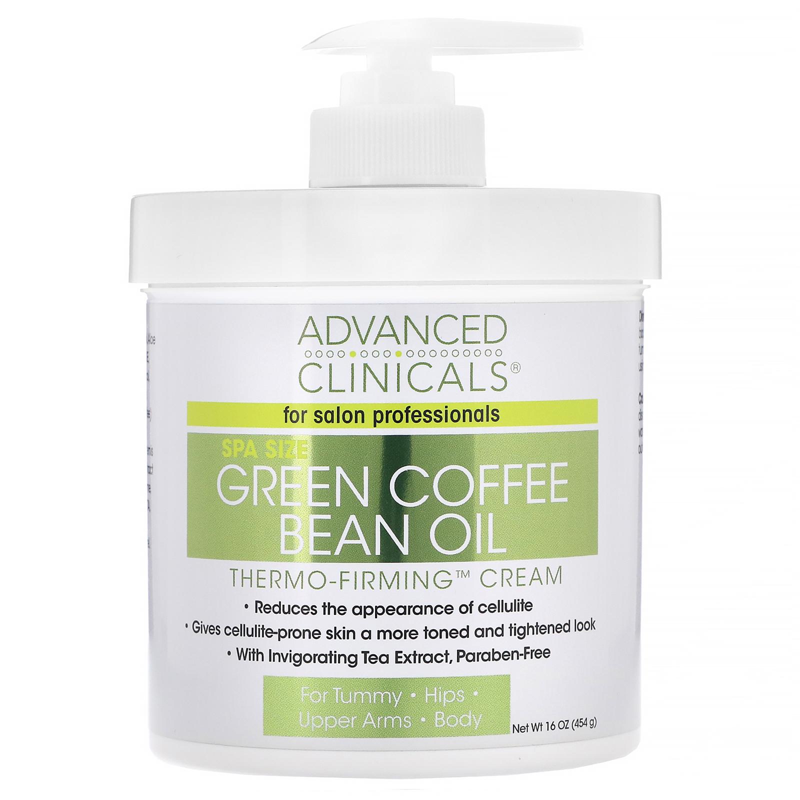 Advanced Clinicals Green Coffee Bean Oil Thermo Firming Cream