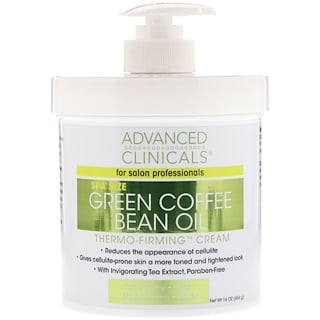 Advanced Clinicals, Aceite de granos de café verde, crema termo-afirmante, 16 oz (454 g)