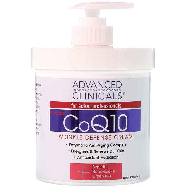 品牌從A - ZAdvanced Clinicals類別沐浴露及個人護理身體護理乳液:Advanced Clinicals, CoQ10, Wrinkle Defense Cream, 16 oz (454 g)