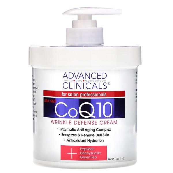 CoQ10, Wrinkle Defense Cream, 16 oz (454 g)