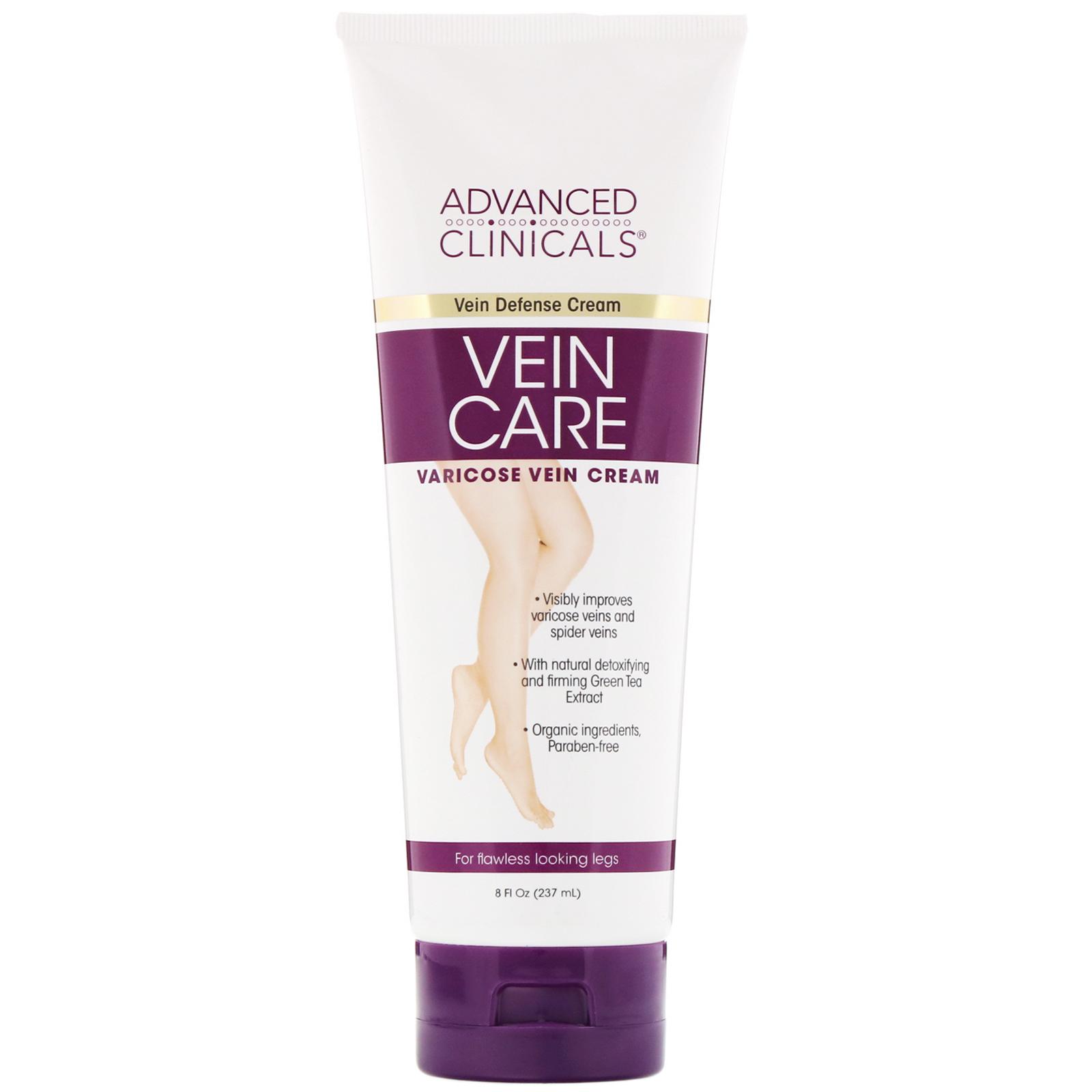 Advanced Clinicals, Vein Care, Varicose Vein Cream, 8 fl oz (237 ml) - iHerb