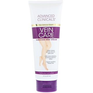 Advanced Clinicals, Vein Care, Crema para las venas varicosas, 8 fl oz (237 ml)