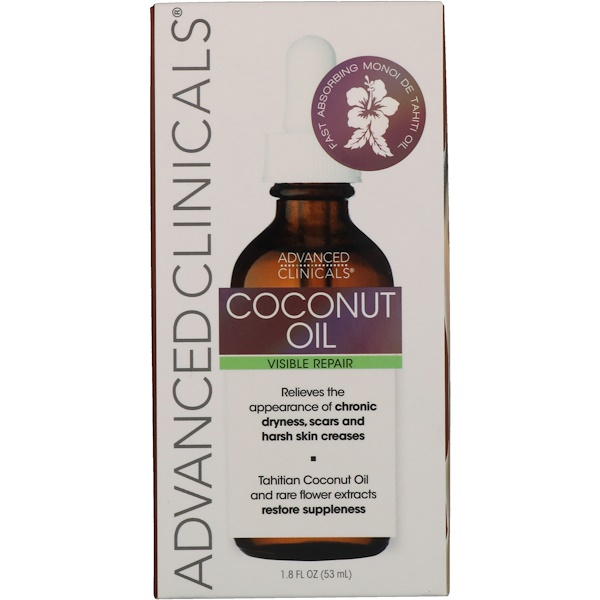 Advanced Clinicals, Coconut Oil, 1.8 fl oz (53 ml)