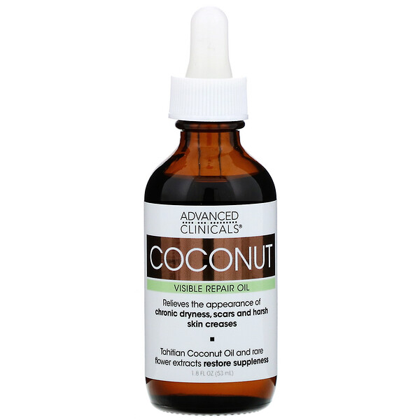 Advanced Clinicals, Coconut, Visible Repair Oil, 1.8 fl oz (53 ml) (Discontinued Item)