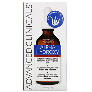 Advanced Clinicals, Alpha Hydroxy, Power Exfoliating Peel, 1.75 fl oz (52 ml) отзывы