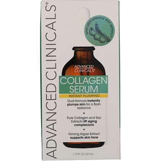Advanced Clinicals, Collagen, Instant Plumping Serum, 1.75 fl oz (52 ml)