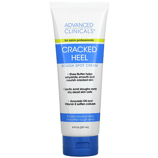 Advanced Clinicals, Cracked Heel, Rough Spot Cream, 8 fl oz (237 ml)