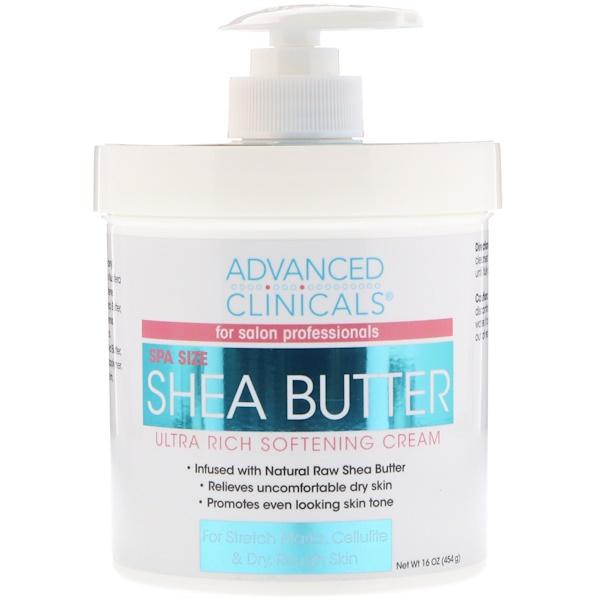Advanced Clinicals, Shea Butter, Ultra Rich Softening Cream, 16 oz (454 g)