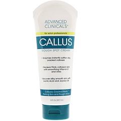 Advanced Clinicals, Callus, Rough Spot Cream, 8 fl oz (237 ml)