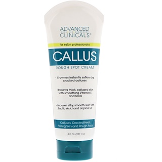 Advanced Clinicals, Callus, Rough Spot Cream, 8 fl oz (237 ml)