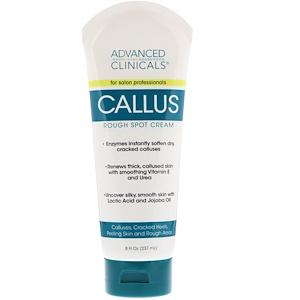 Advanced Clinicals, Callus, Rough Spot Cream, 8 fl oz (237 ml) отзывы покупателей
