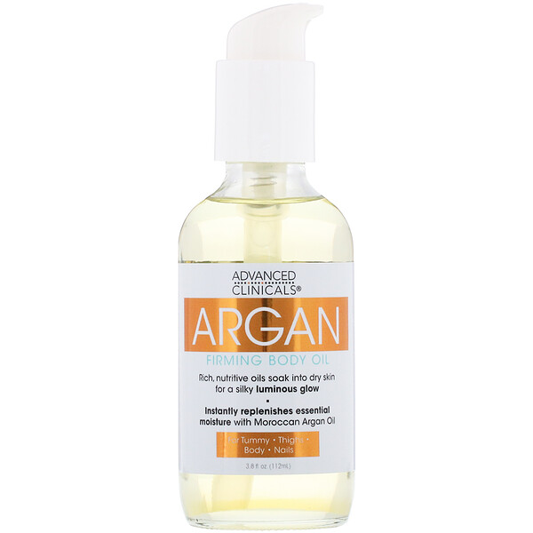 Advanced Clinicals, Argan, Firming Body Oil, 3.8 fl oz (112 ml) (Discontinued Item)