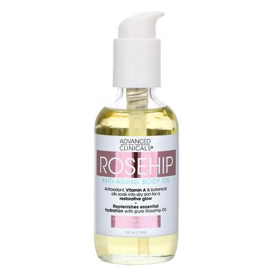 Advanced Clinicals Rosehip, Anti-Aging Body Oil, 3.8 fl oz (112 ml)