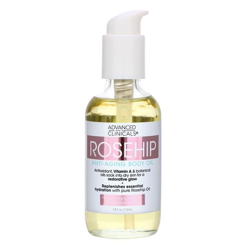 Advanced Clinicals, Rosehip, Anti-Aging Body Oil, 3.8 fl oz (112 ml)