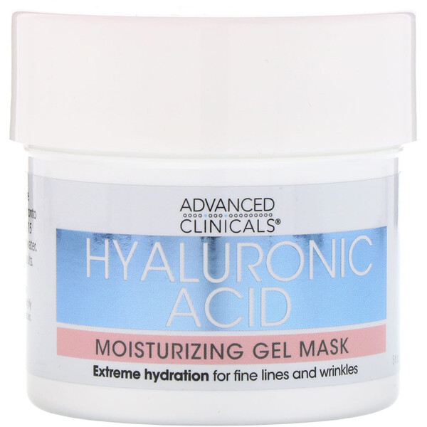 Advanced Clinicals, Hyaluronic Acid, Moisturizing Gel Mask, 5 fl oz (148 ml)