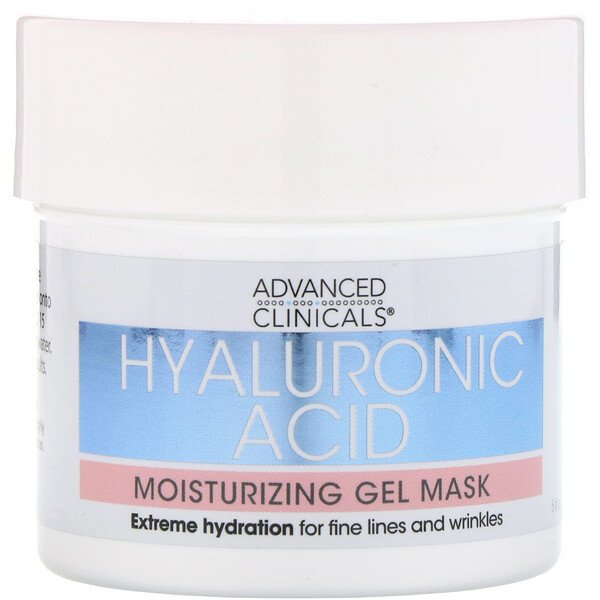 Advanced Clinicals, Hyaluronic Acid, Moisturizing Gel Mask, 5 fl oz (148 ml) (Discontinued Item)