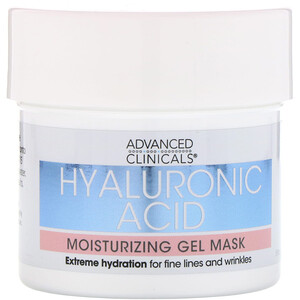 Advanced Clinicals, Hyaluronic Acid, Moisturizing Gel Mask, 5 fl oz (148 ml) отзывы