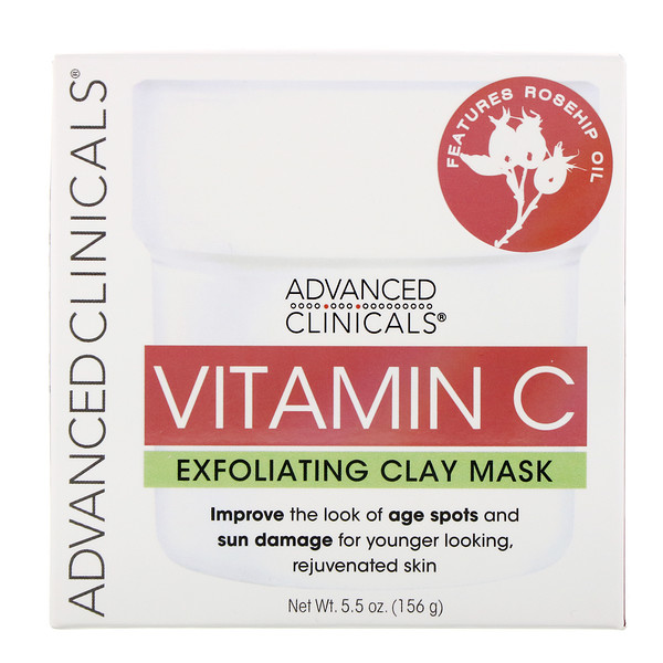 Advanced Clinicals, Vitamin C, Exfoliating Clay Mask, 5.5 oz (156 g)