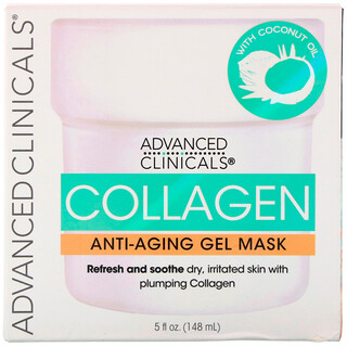 Advanced Clinicals, Collagen, Anti-Aging Gel Mask, 5 fl oz (148 ml)