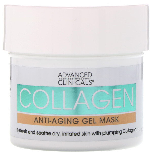 Advanced Clinicals, Collagen, Anti-Aging Gel Mask, 5 fl oz (148 ml) (Discontinued Item)