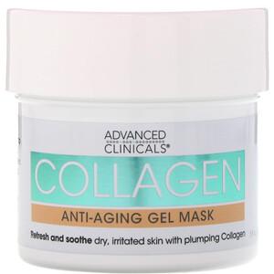 Advanced Clinicals, Collagen, Anti-Aging Gel Mask, 5 fl oz (148 ml) отзывы