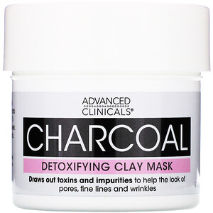 Advanced Clinicals, Charcoal, Detoxifying Clay Mask, 5.5 oz (156 g) отзывы