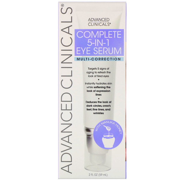 Advanced Clinicals, Complete 5-in-1 Eye Serum, Multi-Correction, 2 fl oz (59 ml)