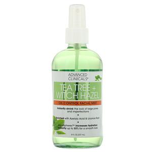 Advanced Clinicals, Tea Tree + Witch Hazel, Oil Control Facial Mist, 8 fl oz (237 ml) отзывы покупателей