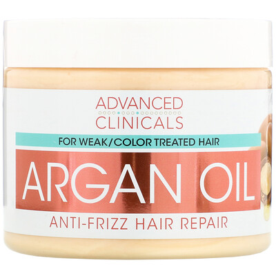 Купить Advanced Clinicals Argan Oil, Anti-Frizz Hair Repair, 12 fl oz (355 ml)