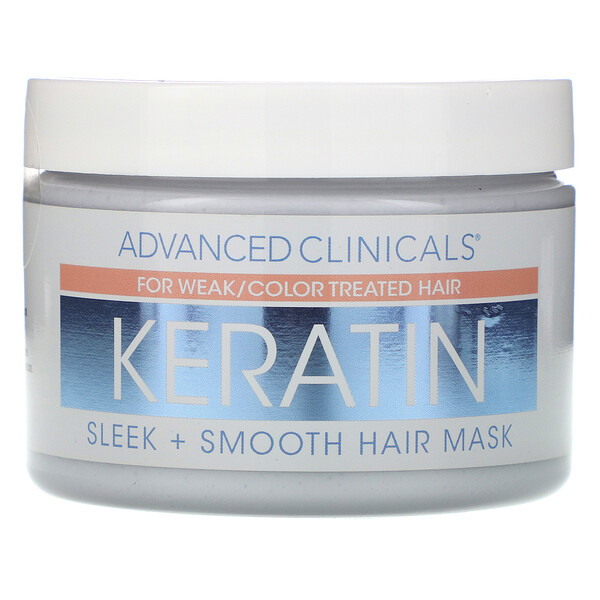 Keratin,  Sleek + Smooth Hair Mask,  12 oz (340 g)