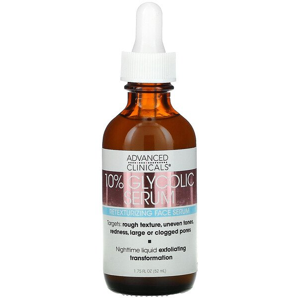 Advanced Clinicals, 10% Glycolic Serum, 1.75 fl oz (52 ml)
