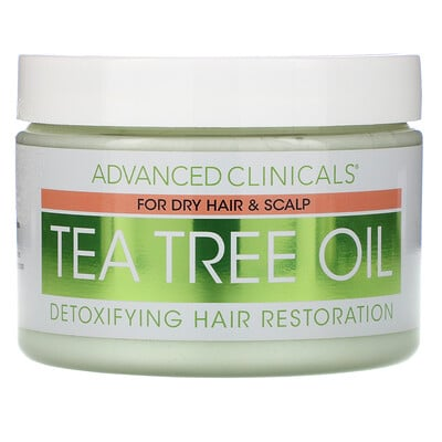 Advanced Clinicals Tea Tree Oil, Detoxifying Hair Mask, 12 oz (340 g)