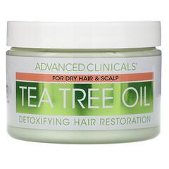 Advanced Clinicals, 茶樹油,清體髮膜,12 盎司(340 克)